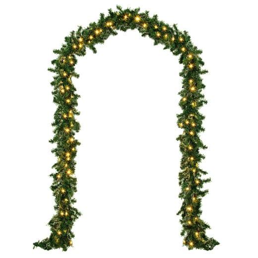 Weihnachtsgirlande 10m mit 200 LEDs für In/Outdoor