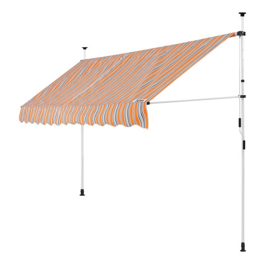 Clamp Awning Yellow/Blue 11.5ft