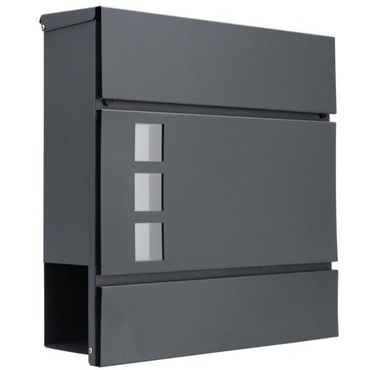 Designer Briefkasten mit Sichtfenster Anthrazit