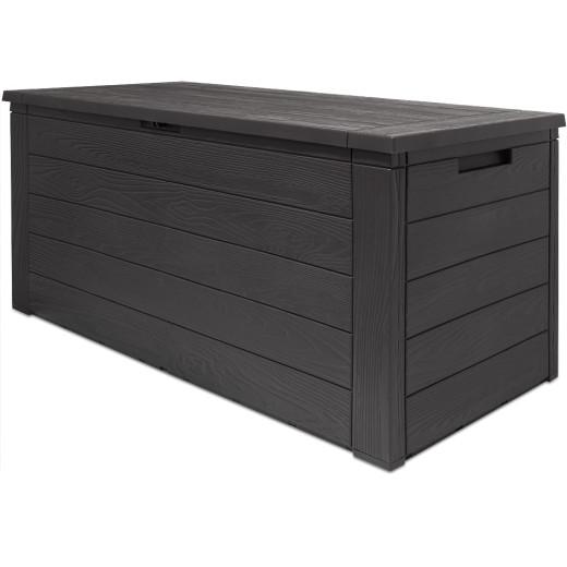 Auflagenbox in Holzoptik Anthrazit 120x46x57cm