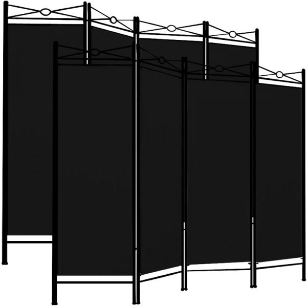 2x Paravent als Raumteiler in schwarz