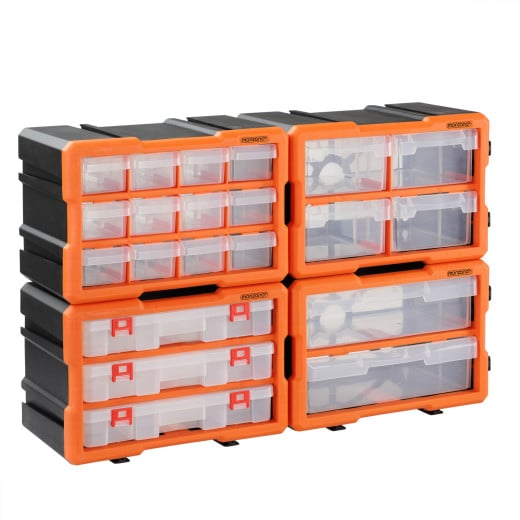 Kleinteileorganizer Komplett-Set 72 Fächer