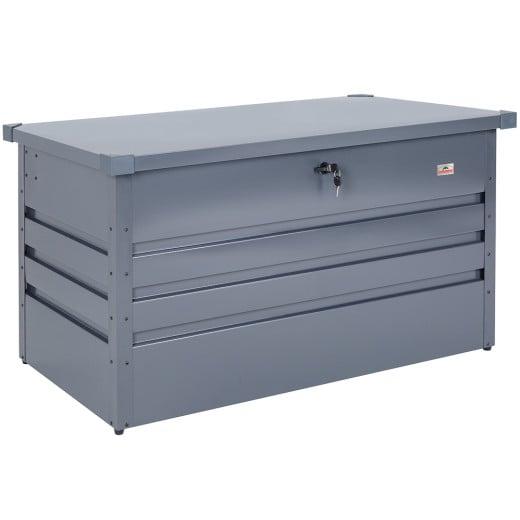 Abschließbare Auflagenbox Anthrazit Metall