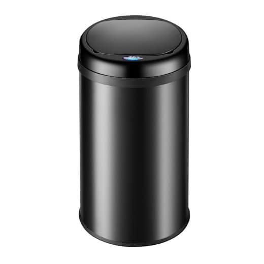 Sensor Mülleimer Edelstahl Schwarz 40 Liter