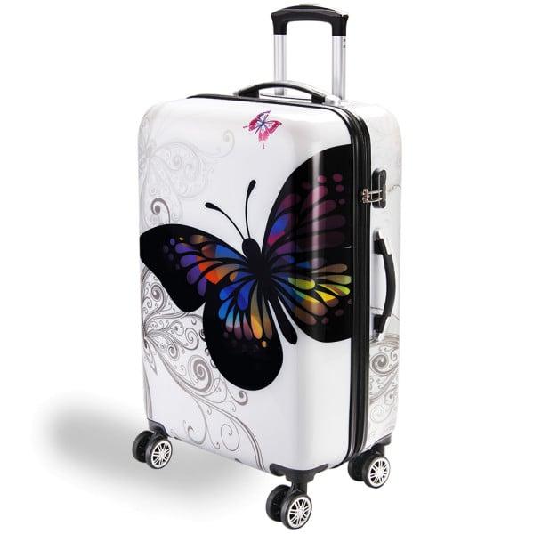Koffer Hartschale Butterfly XL aus Polycarbonat 98l 75x49x29cm