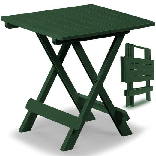 Klapptisch Kunststofftisch in grün 45x43x50cm