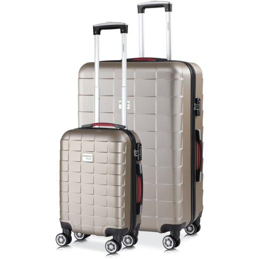 Koffer Hartschale 2 tlg. Exopack Champagner M/XL aus ABS 38l, 105l