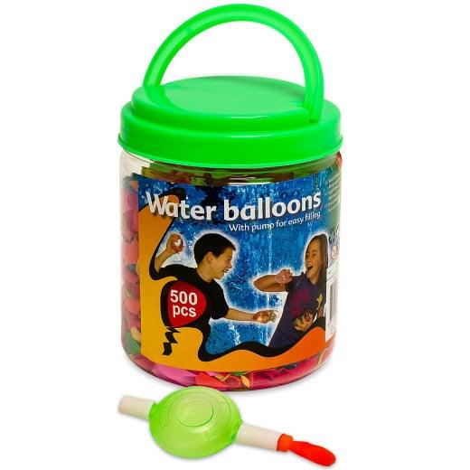 Wasserbomben 500er-Set Bunt mit Pumpe