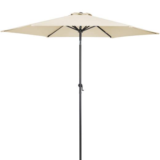 Sonnenschirm Beige Alu Ø300cm UV-Schutz 40+