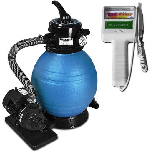 Sandfilteranlage 10.200 l inkl. Wassertestgerät