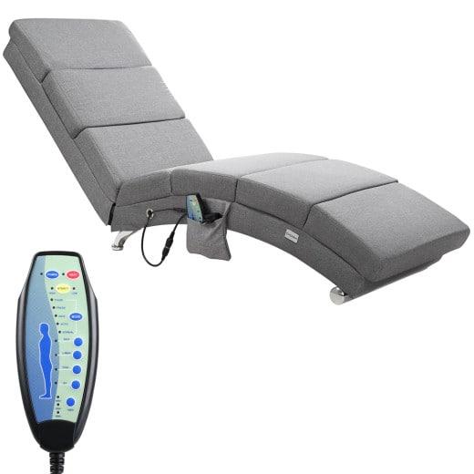 Massageliege in grau & Heizfunktion