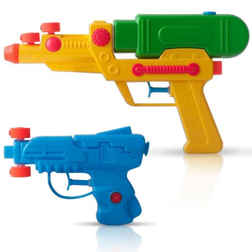 2er Set - Wasserpistolen mit 2 verstellbaren Spritzdüsen