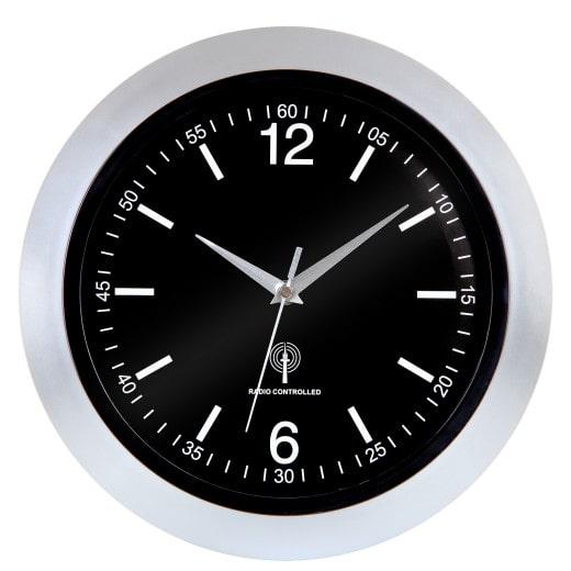 Wanduhr Funkuhr -Ø30cm- mit Sekundenzeiger & Glasdabdeckung