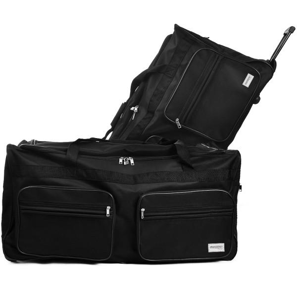 XXL Reisetasche mit Trolleyfunktion 160L schwarz