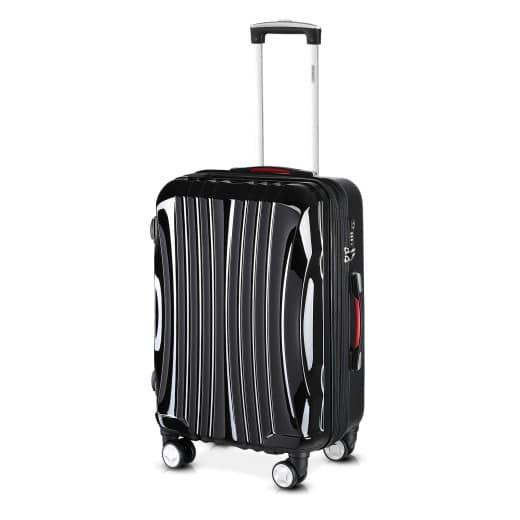 Koffer Hartschale Ikarus Schwarz L aus ABS 90-102l 67,5x48x28cm