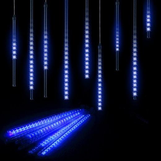 Diamantenregen Lichterkette Blau