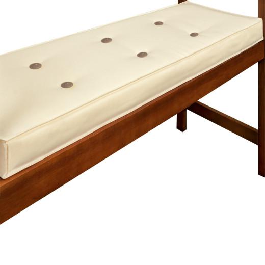 Sitzauflage Bank Creme 110x45x7cm