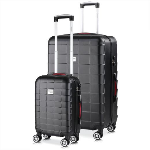 Koffer Hartschale 2 tlg. Exopack Schwarz M/XL aus ABS 38l, 105l