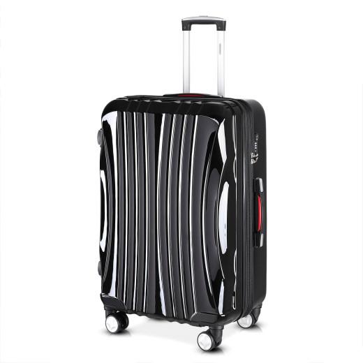 Koffer Hartschale Ikarus Schwarz XL aus ABS 105-154l 78x53x33cm