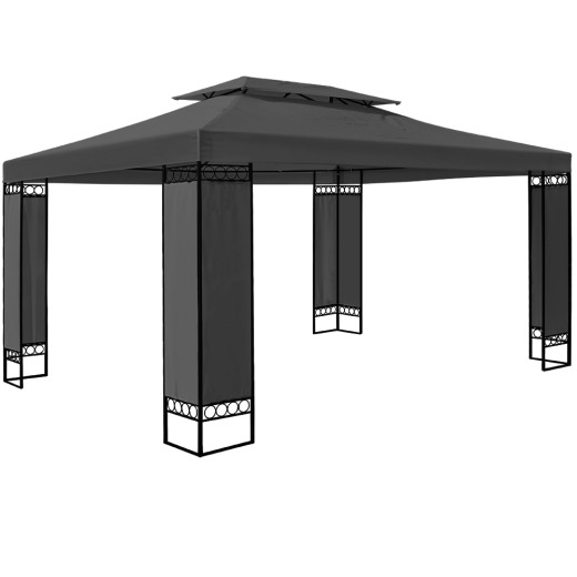 Pavillon Elda in Anthrazit XXL 3x4m