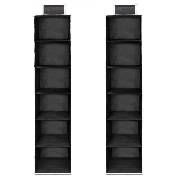 Kleiderschrank Hängeaufbewahrung 120x30x30cm in schwarz - weiß