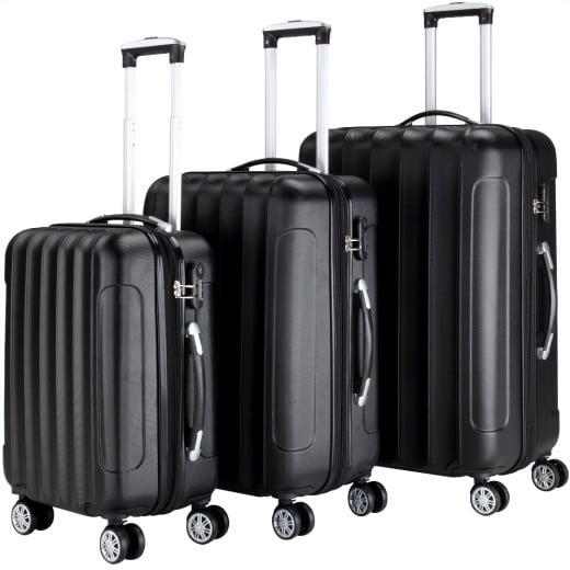 Koffer Hartschale 3 tlg. Business Schwarz M/L/XL aus ABS 42l, 66l, 98l