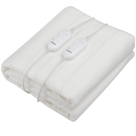 Heizdecke Weiß 160x140cm 2-Zonen
