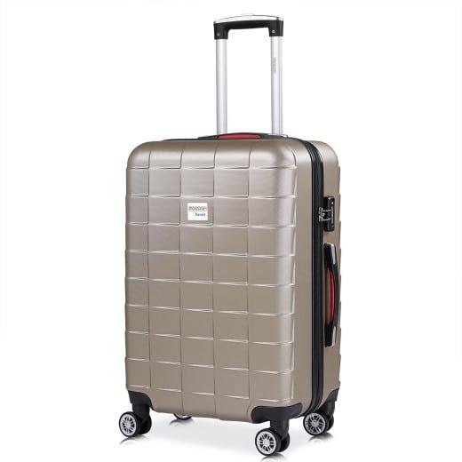 Koffer Hartschale Exopack Champagner L aus ABS 80l 65x41x27cm