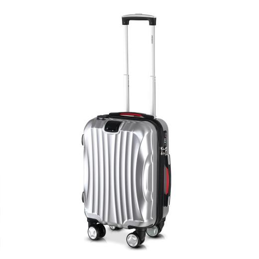Koffer Hartschale Ikarus Silber M aus ABS 38l 55x35x20cm