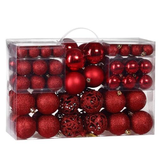 Weihnachtsbaumkugeln Rot 100-tlg.