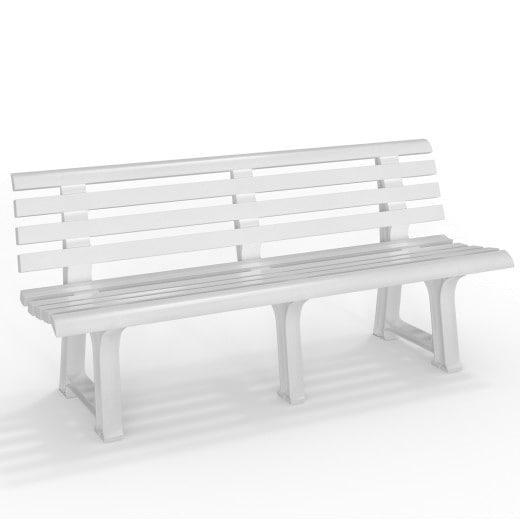 Kunststoff Gartenbank Weiß 145x49x74 cm