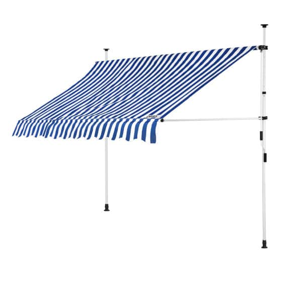 Clamp Awning White/Blue 8ft