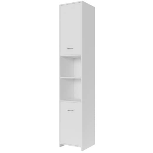Badezimmerschrank Weiß 180x30x30cm