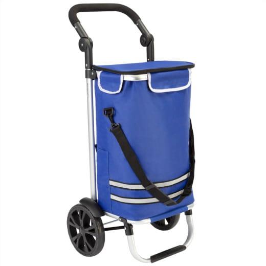Einkaufstrolley Blau Alu 35L 31x24x54cm