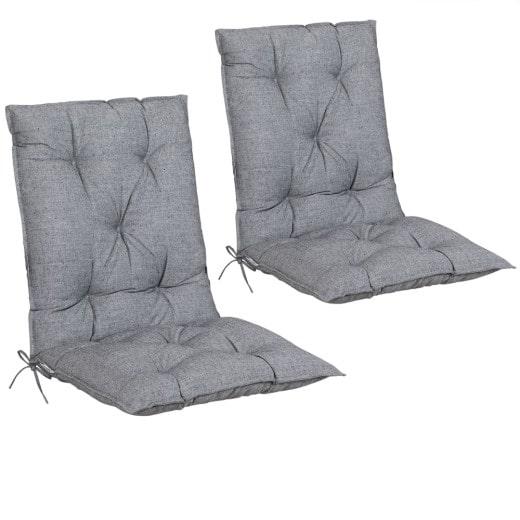 Sitzauflagen 2er-Set Grau meliert