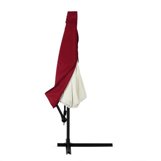 Abdeckung 3 m Ampelschirm mit Reißverschluss, rot