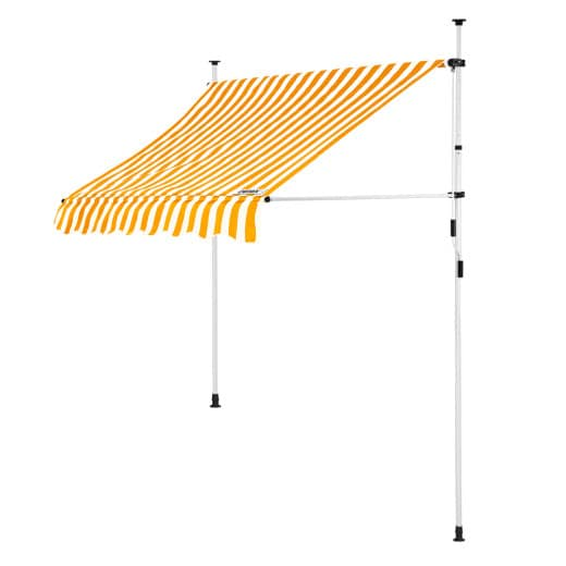 Clamp Awning Yellow/White 5ft