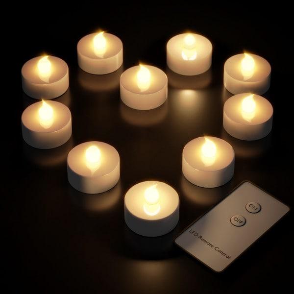 LED Teelichter 10 tlg. Warmweiß Fernbedienung