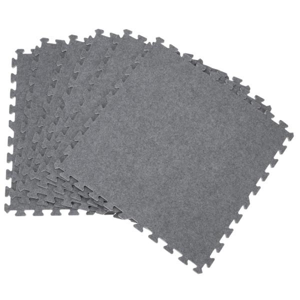 Bodenschutz-/Puzzlematte 6tlg. Grau 60x60x1cm