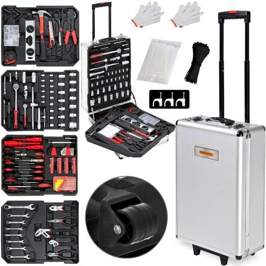 Trolley Werkzeugkoffer mit Werkzeug 899-teilig