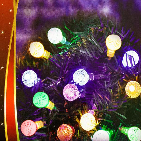 LED Lichterkette in Weihnachtskugel-Form